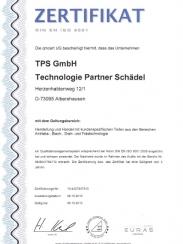 Zertifikat_DIN9001-TPS GmbH